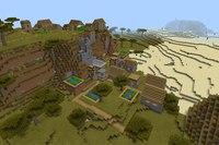 сиды на майнкрафт 0.13.1 зимняя деревня #9