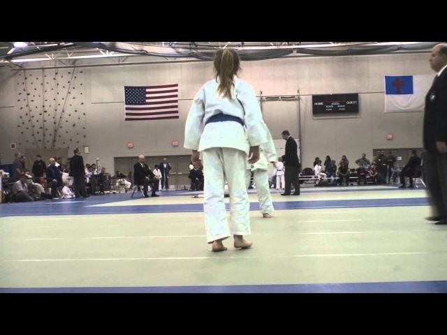 Taliah vs. Rivkah - Match 1 - Wahadachi Judo Tournament - Milwaukee, Wisconsin