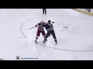 Brad Malone vs Nick Foligno Mar 24, 2016