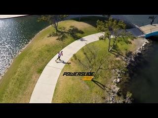 Chris Calkins & the Powerslide Imperial Megacruiser 125 Triskates - Freestyle Inline Skating
