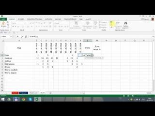 Excel для начинающих. Урок 6_ Простые функции. Оформление таблиц