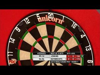 Terry Jenkins vs Kim Huybrechts (World Grand Prix 2014 / First Round)