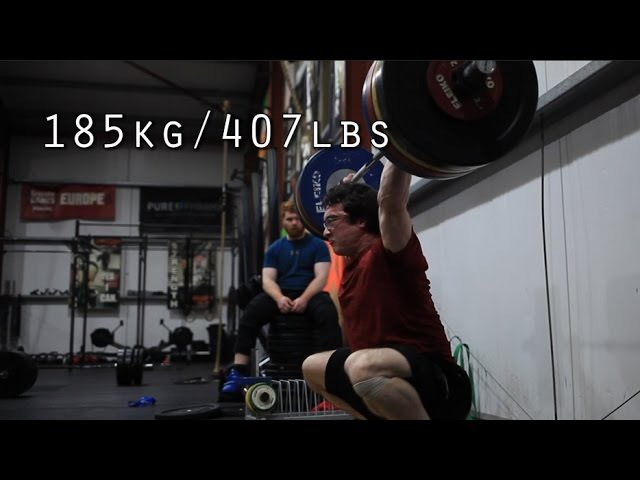 185kg/407lbs Snatch - Training Session in Crossfit Mallow (Scrap Footage part 3)