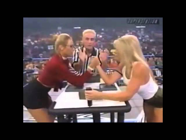 WCW Thunder 07 26 00 Major Gunns vs Miss Hancock Arm Wrestling