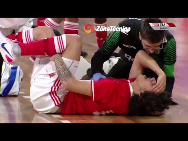 Momento da Lesão arrepiante de Bruno Graça, internacional português e atleta do SL Benfica