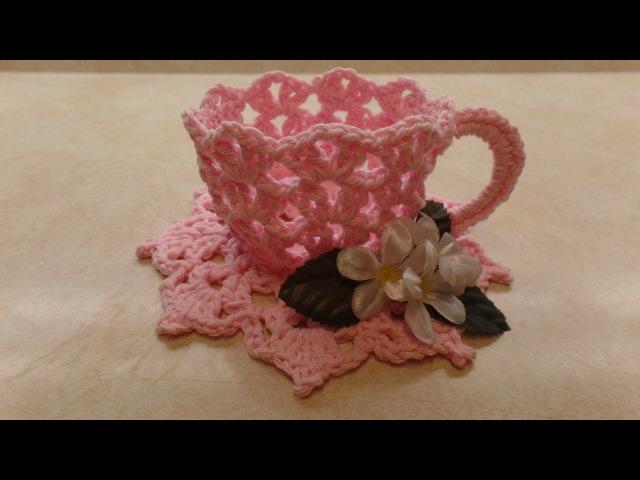 How To Crochet a TeaCup and Saucer Bag O Day Crochet Tutorial 331