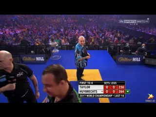 Phil Taylor vs Kim Huybrechts (PDC World Darts Championship 2017 / Round 3)