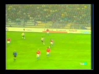 Чехия 0-0 Испания. Квалификация Чемпионата Мира 1998. Группа 6. 2 тур. Дебют Рауля в сборной