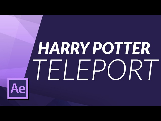 Harry Potter Teleport 'Apparition' Effect in After Effects VFX TUTORIAL