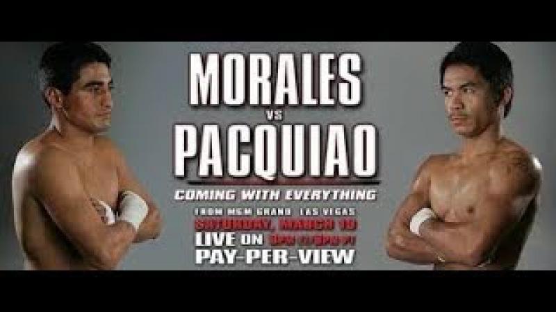 Мэнни Пакьяо Эрик Моралес Manny Pacquiao Erik Morales WBC Пакман Packman Бокс Первый бой Рассечен