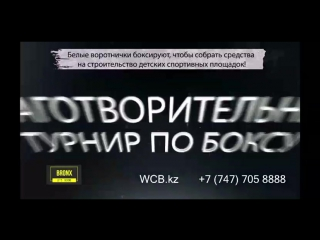 Турнир wcb (white collar boxing) – благотворительный