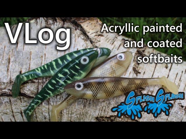 VLog - Acryllic painted and coated softbaits