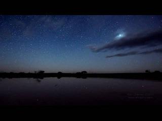 Ночь на австралийском озере Тайрел