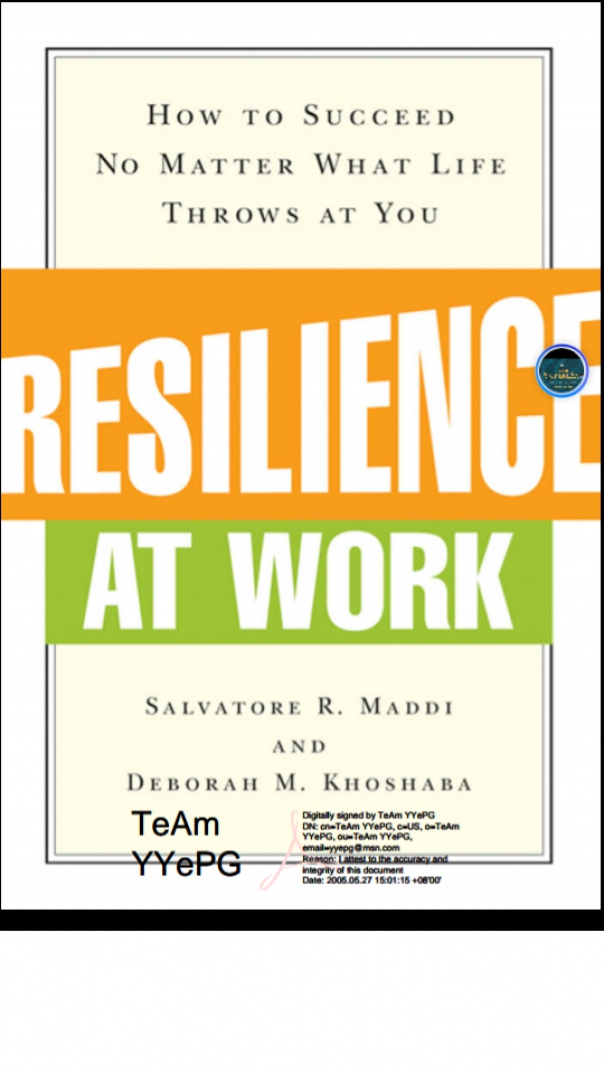 Resilience at work