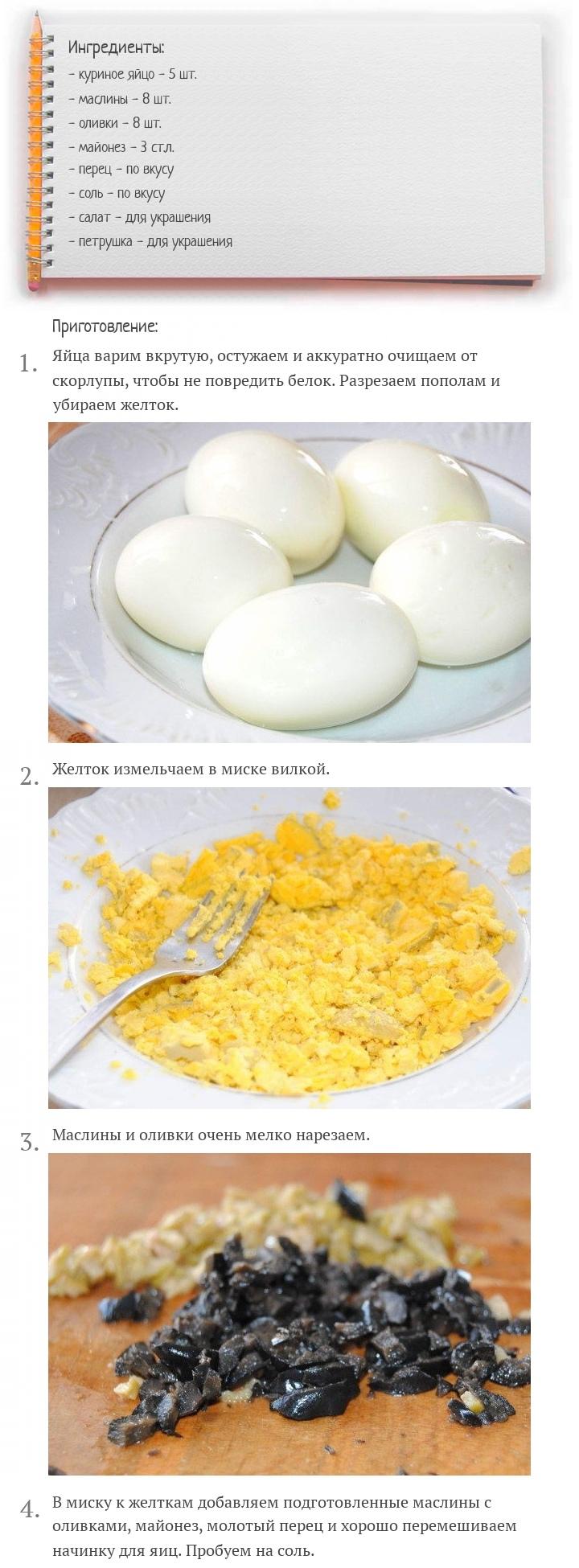 Яйца, фаршированные маслинами и оливками, изображение №2
