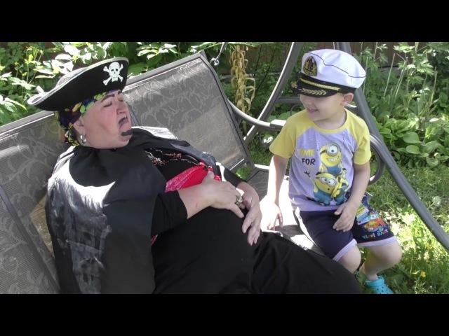 ПИЦЦА пират и спорт Funny Video Как пират объелся пиццы и что было дальше