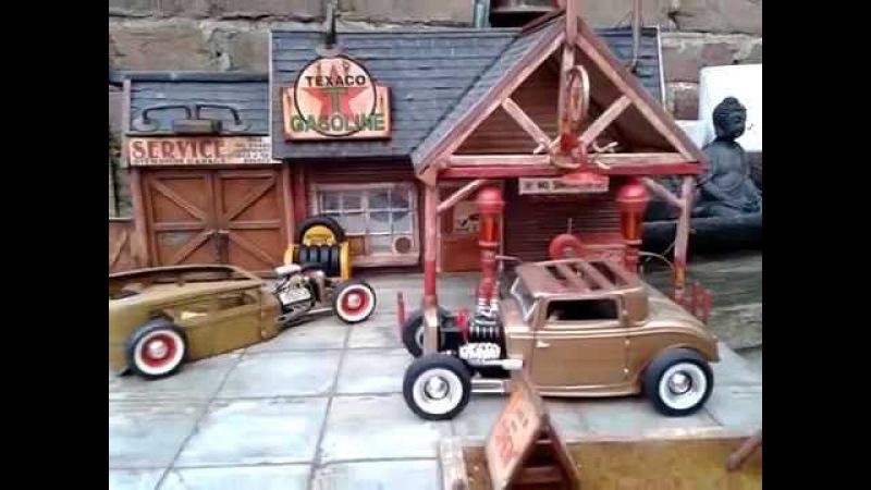 Diorama gasstation 1 25 scale