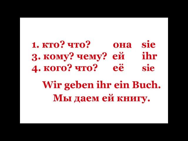 Немецкий для начинающих Урок 13