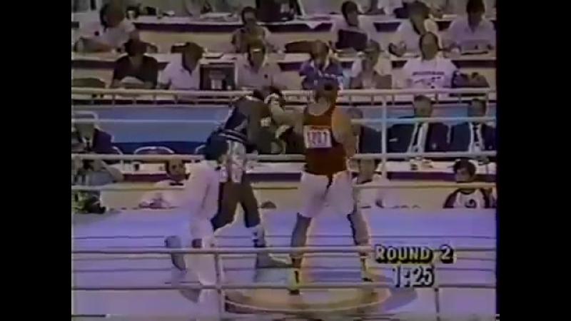 Риддик Боу(США) - Александр Мирошниченко(СССР) 91 кг.Олимпиада-88. Полуфинал(0)