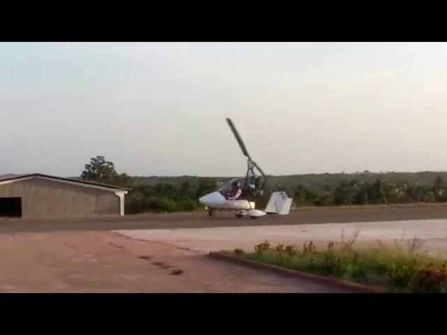 Gyroplane accident rotor flew off gyroplane on runway