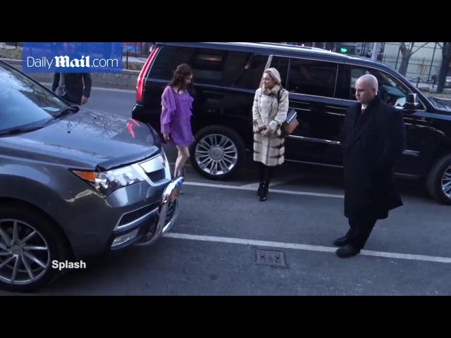 Emma Roberts wears purple dress to Blackcoat's Daughter premiere