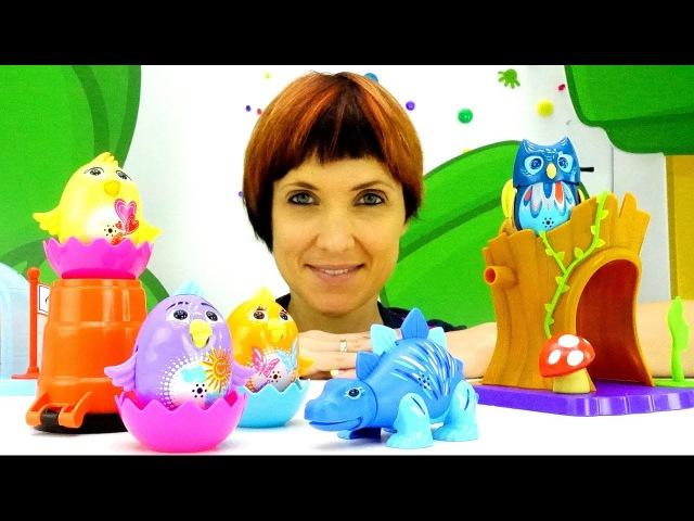 Игры для детей с Машей Капуки Кануки Видео с игрушками DigiBirds Поющие Птички и Динозавры