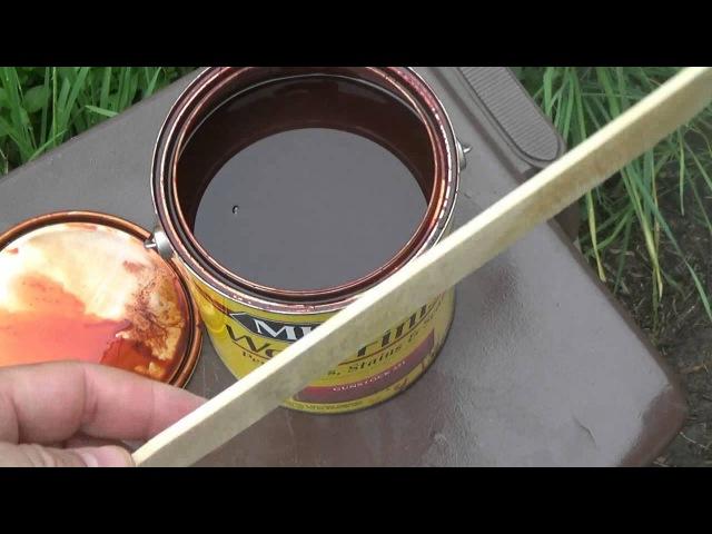 Морилка, как её наносить и как глубоко она проникает How to - Wood Stain