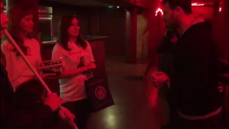 @eminofficialgrouprussia : Традиционная встреча с фан- клубом. Конечно же не обошлось без знаменитого чак-чака и курая Уфа