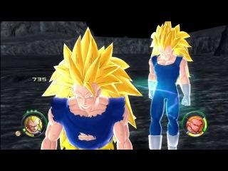 Dragonball Z Raging Blast 2 - SSJ3 Vegeta VS SSJ3 Goku & Broly (Round 2)