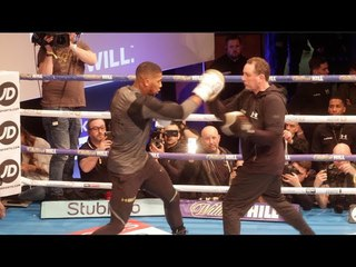 ABSOLUTE BEAST!! ANTHONY JOSHUA (FULL & COMPLETE) PUBLIC WORKOUT AHEAD OF CLASH W/ JOSEPH PARKER