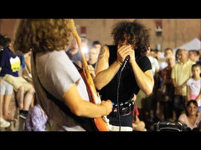 Moses Concas Borja Catanesi - Street Improvisation Beatbox Harmonica Guitar