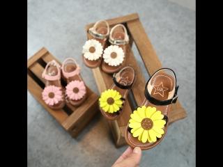 Босоножки-Ромашки под заказ для девочек!!! Лето 2018!!!