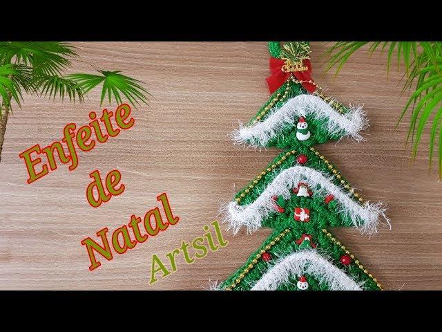 Enfeite de Natal para porta Silvana Artsil