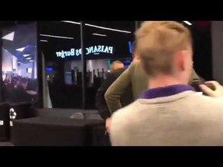 Conor Mcgregor at UFC 223 Media Day Throwing Chairs and a Bike Rack at Bus