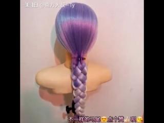 Очень красивое плетение косы на заметку