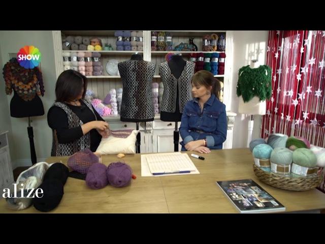 Alize Angora Gold Batik ile Yelek Yapımı -Making Knitting Vest with Alize Angora Gold Batik