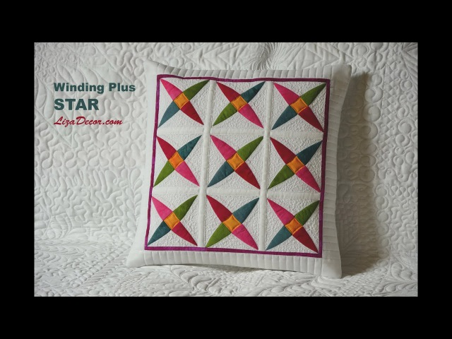 Winding Plus Star RED Patchworková šablona