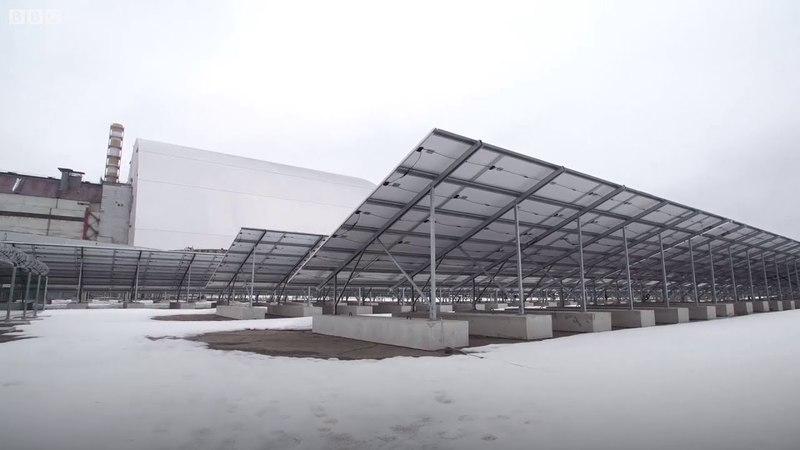 Майбутнє після катастрофи в Чорнобилі відкрилася сонячна електростанція