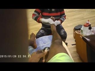 Подрочил член до оргазма на массаже ног (handjob, cumshot, jerking, amateur, сперма, кончает,эякуляция,мастурбация,любительское)