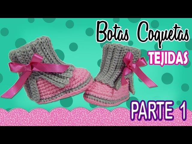 Botas coquetas para niña Tejidas a Crochet parte 1 2