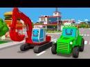 Мультики про Машинки для Детей - Цветные Грузовики Трактора Экскаваторы и СУПЕР