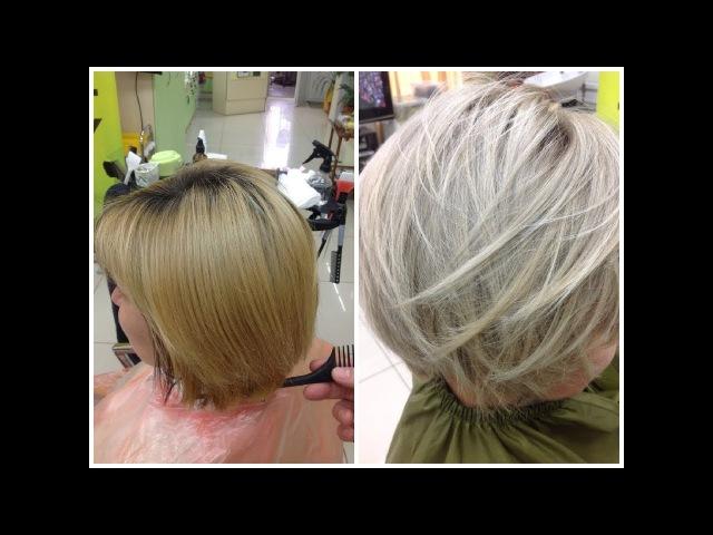 Из рыжего в пепельный блонд From Brassy Ginger Blonde to Ash Blonde Ash Blonde Hair Tutorial