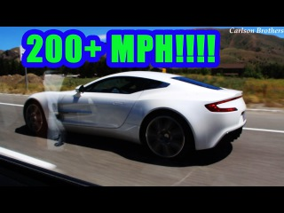 Aston Martin One-77 Startup, Revs, and 200 MPH+ Run!!!