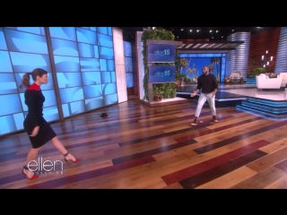 Jessica Biel's Amazing 'Dirty Dancing' Entrance Is Ellen's Best One Yet RUS SUB