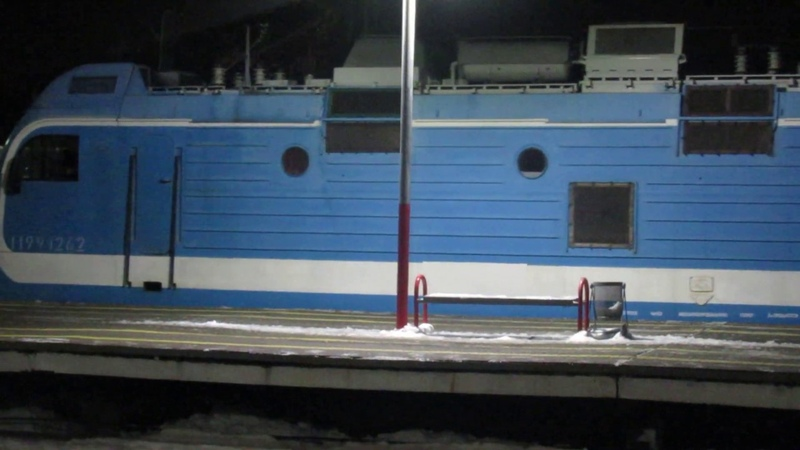 Отправление ЭП1М-503 с поездом№131Г Санкт Петербург-Ижевск со станции Владимир ГЖД 1.02.2019