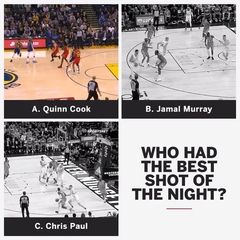 "NBA on ESPN on Instagram: ""These guys were cookin' last night."""