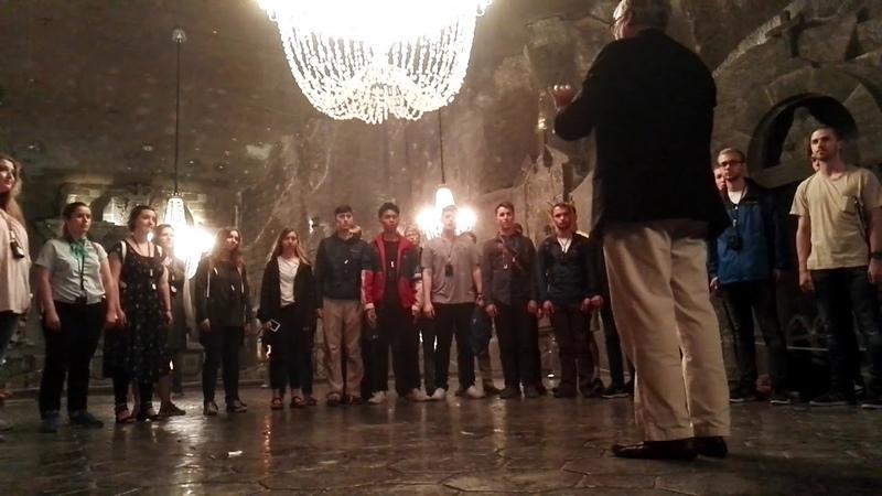 Choir Flashmob in Wieliczka SaltMine 2018 05 16 BEAUTIFUL