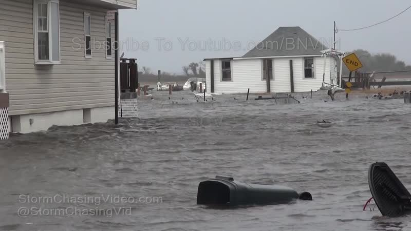 Broad Channel, NY Noreaster storm surge floods homes and cars 10_⁄27_⁄2018