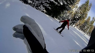 Teaching Jason How to snowboard, straight to the blue, from zero to hero in one session Part 2
