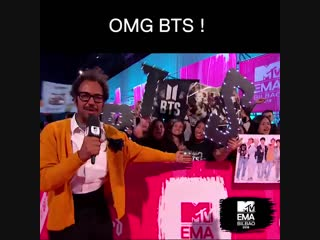041118 Congrats to @BTS_twt and the Army for winning the 2018 #MTVEMA